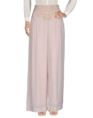 Повседневные брюки INTROPIA. Цвет: светло-розовый