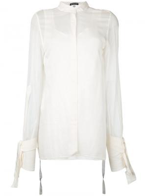 Рубашка с открытой спиной Ann Demeulemeester. Цвет: белый