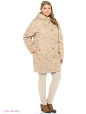 Утепленное пальто MONTSERRAT. Цвет: горчичный