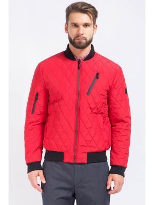 Куртка-бомбер Finn Flare. Цвет: темно-бордовый