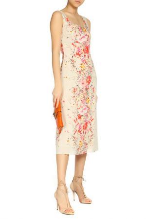 Легкое летнее платье Alina Assi. Цвет: бежевый, розовый