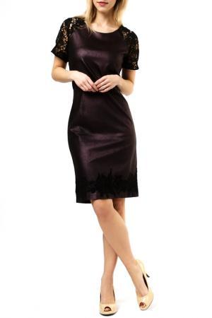 Платье Jones. Цвет: dark violet and black
