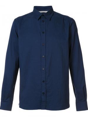 Рубашка классического кроя Norse Projects. Цвет: синий