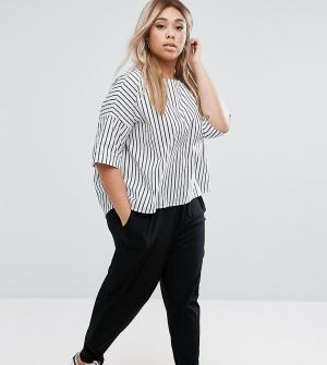 ASOS Curve Трикотажные брюки‑галифе. Цвет: черный