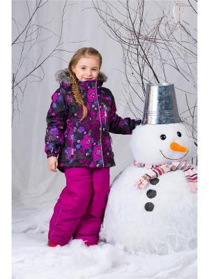 Костюм зимний куртка с брюками на подтяжках NANO. Цвет: черный