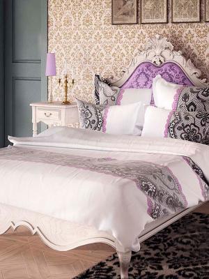 Комплект постельного белья Волшебная ночь. Цвет: кремовый, темно-серый, розовый