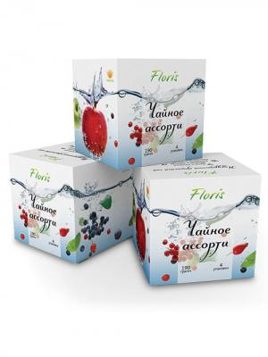Floris Чайный набор Чайное ассорти 4 вида, 190 гр. Цвет: белый, голубой