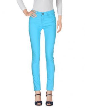 Джинсовые брюки MAISON ESPIN. Цвет: бирюзовый