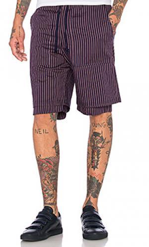 Двуслойные шорты Wil Fry. Цвет: синий