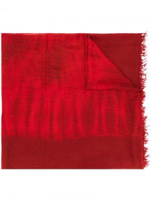 Трикотажный шарф Suzusan. Цвет: красный