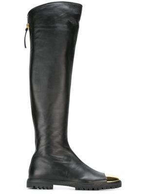 Высокие сапоги Giuseppe Zanotti Design. Цвет: чёрный
