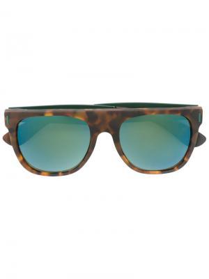 Солнцезащитные очки Flat Top Francis Squadra Retrosuperfuture. Цвет: коричневый