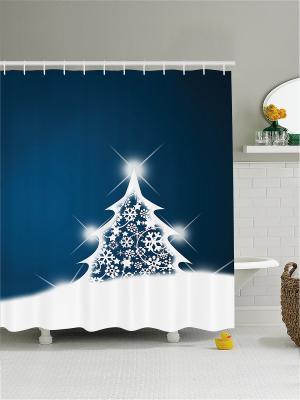 Штора для ванной Magic Lady. Цвет: черный, белый, темно-синий