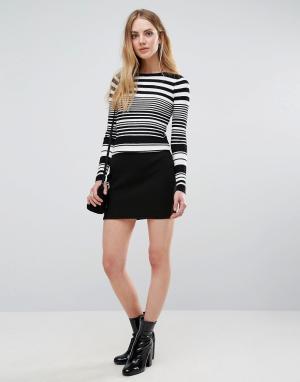 Unique 21 Фактурная юбка-карандаш. Цвет: черный