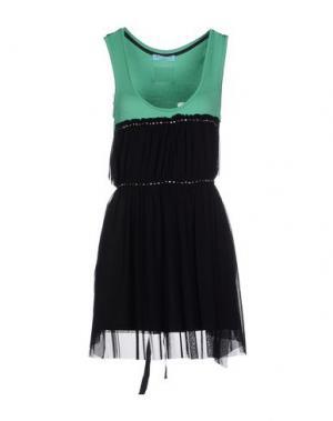 Короткое платье YES LONDON. Цвет: зеленый
