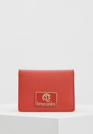 Визитница Braccialini. Цвет: коралловый