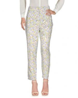 Повседневные брюки GOTHA. Цвет: желтый