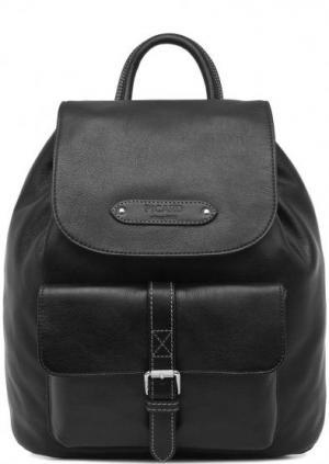 Кожаный рюкзак с откидным клапаном Picard. Цвет: черный