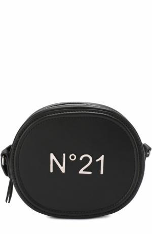 Сумка на молнии с логотипом бренда No. 21. Цвет: черный