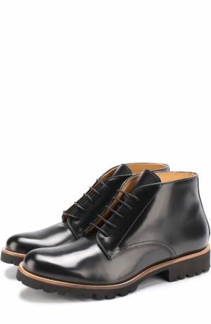 Кожаные ботинки на шнуровке и молнии Gallucci. Цвет: черный