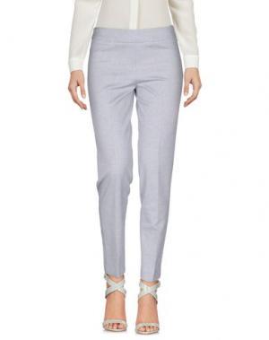 Повседневные брюки PUROTATTO. Цвет: светло-серый