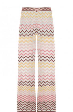 Вязаные расклешенные брюки M Missoni. Цвет: разноцветный