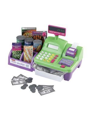 Кассовый аппарат Минимаркет Casdon (имитационная еда, деньги (монеты и бумажные купюры) в комп. Цвет: зеленый
