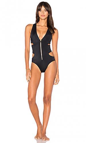 Слитный купальник lilly OYE Swimwear. Цвет: черный