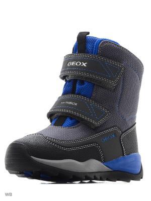 Ботинки GEOX. Цвет: серый, индиго