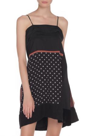 Свободное платье на бретели Liu Jo. Цвет: черный