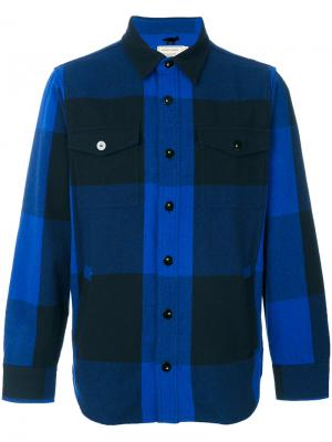 Рубашка в клетку Maison Kitsuné. Цвет: синий