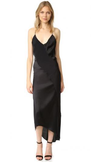 Платье-комбинация Lennox MLM LABEL. Цвет: голубой