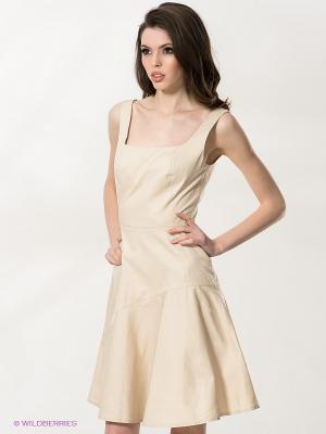 Платье Stefanel. Цвет: бежевый