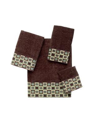 Полотенце для рук Blocks AVANTI. Цвет: темно-коричневый