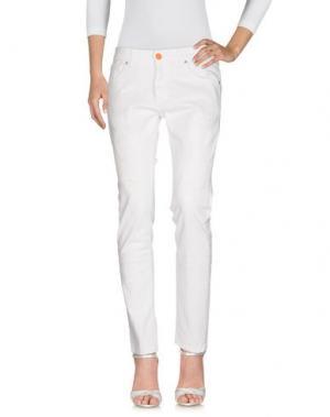 Джинсовые брюки GABARDINE. Цвет: белый