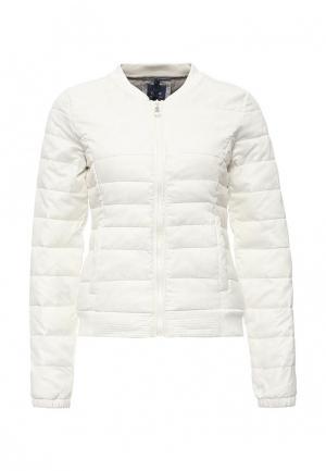 Куртка утепленная Only. Цвет: белый