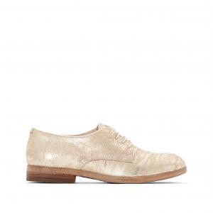 Ботинки-дерби из кожи Nicole MJUS. Цвет: золотистый