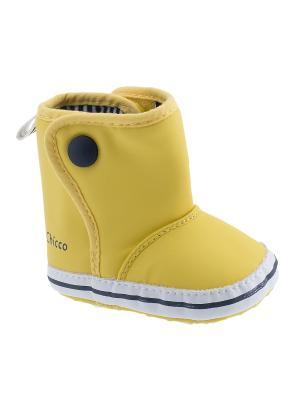 Полусапожки CHICCO. Цвет: желтый