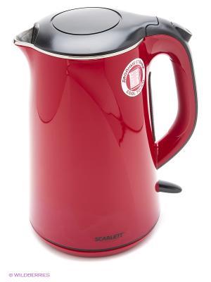 Чайник Scarlett SC-EK21S05 бордовый 1.5л. 2200Вт. Цвет: бордовый