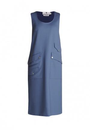 Платье Bergamoda. Цвет: голубой