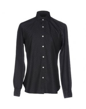 Pубашка BARBA NAPOLI. Цвет: стальной серый