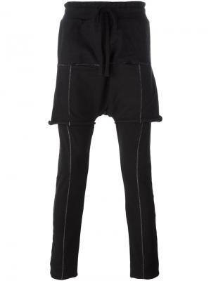 Двухслойные брюки Thom Krom. Цвет: чёрный