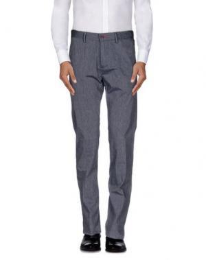 Повседневные брюки GANESH. Цвет: свинцово-серый