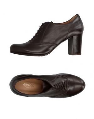 Обувь на шнурках ANGEL. Цвет: темно-коричневый