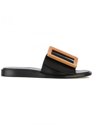 Oversized buckle sandals Boyy. Цвет: чёрный