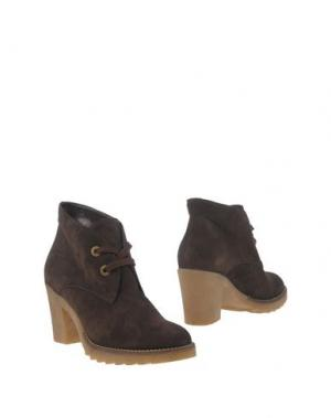 Полусапоги и высокие ботинки GIONATA. Цвет: темно-коричневый