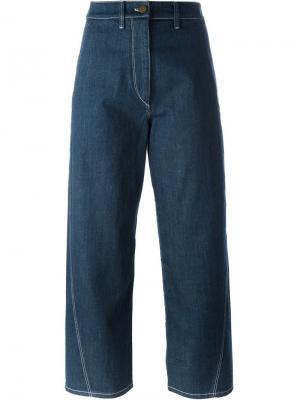 Широкие джинсы Lemaire. Цвет: синий