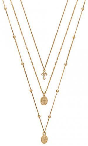 Ожерелье single charmer Ettika. Цвет: металлический золотой