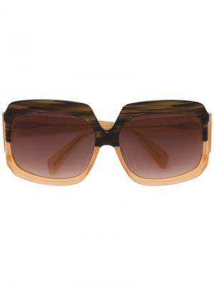 Солнцезащитные очки Labyrinth Sama Eyewear. Цвет: коричневый