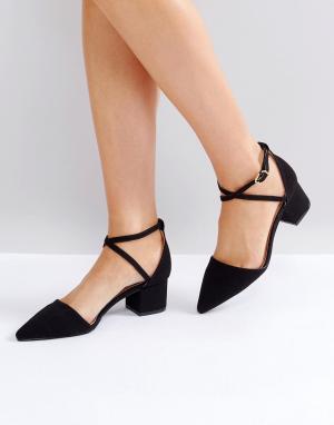 Raid Черные туфли на каблуке Avia. Цвет: черный